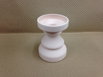 Small Candlestick Holder Stoneware Bisque (4 Per Case)