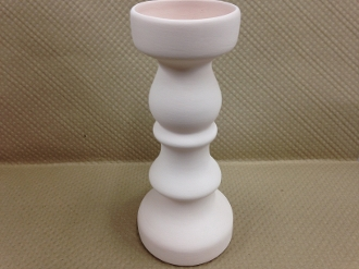 Large Candlestick Holder Stoneware Bisque (4 Per Case)